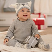 Knit Owl Hat & Bootie Set | Pottery Barn Kids