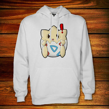 Togepi Hoodie,Togepi Sweater Black and White