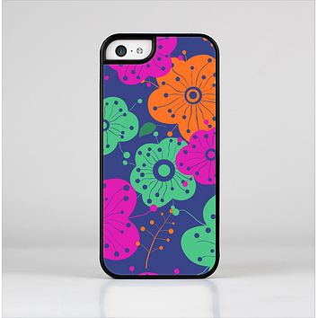 The Bright Colored Cartoon Flowers Skin-Sert for the Apple iPhone 5c Skin-Sert Case