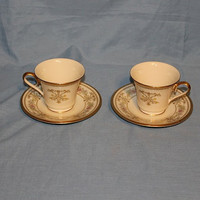 Lenox Castle Garden Cup and Saucer Set, Set Of 2, Never Used, Item 974