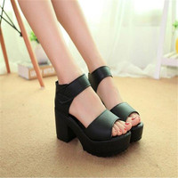 Wedges Open Toe Thick Heel Soft Women Platform Sandals high-heeled Shoes