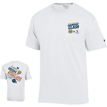 University of Notre Dame ND vs Virginia 2015 Game Day Clash T-Shirt