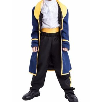 [13678] 2017 New Children Prince Clothing Beauty And Beast