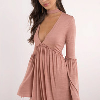 Clara Choker Shift Dress