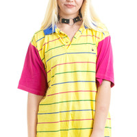 Vintage 90's Colorblock Striped Polo - One Size Fits Many