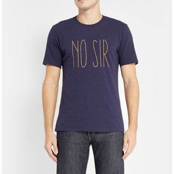 Undercover - No Sir Printed Cotton-Jersey T-Shirt | MR PORTER