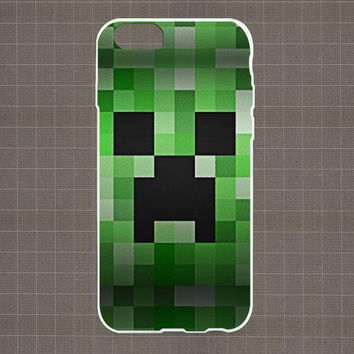 Creeper Minecraft iPhone 4/4S, 5/5S, 5C Series Hard Plastic Case