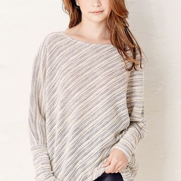 Grey Asymmetrical Don't Let Go Knitted Sweater