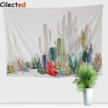 Cilected Cactus Tapestry Rectangle Hanging Wall Tapestries Bohe Home Room Decoration Table Cloth Hippie Carpet Drop Shipping