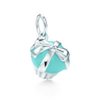 Tiffany & Co. - Cupcake charm in sterling silver with Tiffany Blue® enamel finish.