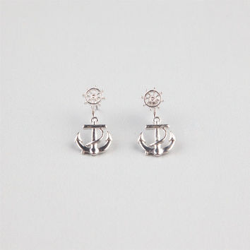 Full Tilt Anchor Front To Back Earrings Silver One Size For Women 24422514001