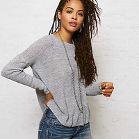 Don't Ask Why Jegging Sweater, Stone Gray