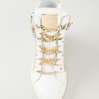 Giuseppe Zanotti Design Chain Detail Hi-top Sneakers - O' - Farfetch.com