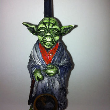Tobacco Hand Made Pipe, Yoda Design