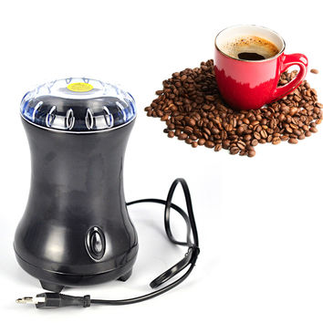 Electric Coffee Spice Grinder Maker Beans Herbs Nuts Stainless Steel Blades moedor de cafe for Home , 220-240V EU Plug