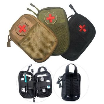 EDC Survival Waterproof Nylon Tactical Molle System Waist Bag Travel Medical Military First Aid Kit Sling Pouch Durable