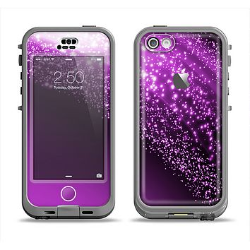 The Shower of Purple Rain Apple iPhone 5c LifeProof Nuud Case Skin Set