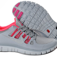 Nike Free Run 5.0 V2  Womens Grey Pink