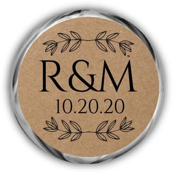 Rustic Wedding Kisses Stickers
