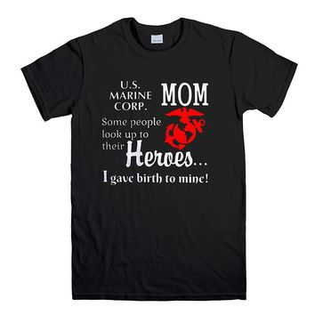 PROUD MARINE MOM US ARMY 2 Men's T-Shirt