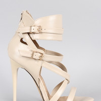 Buckle Strappy Stiletto Heel