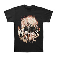 Motionless In White Men's  Full Band Photo T-shirt Black