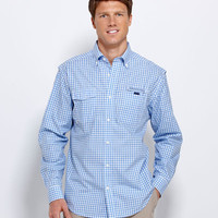 Men's Sport Shirts: Harbor Collection: Rowlock Gingham Button Down Shirt - Vineyard Vines