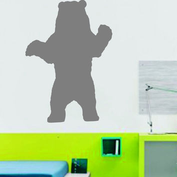 Bear - Grizzly - Vinyl Wall Decal - Wall Mural Decal Sticker - EMS 104