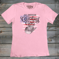 Women's All American Country Girl ® Fashion Fit Tee