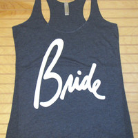 Women's Tri Blend Racerback Tank Top Bride