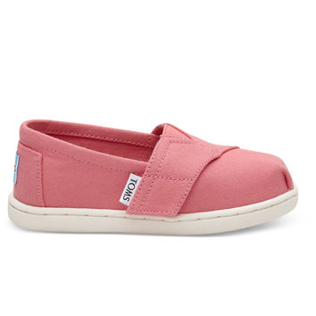 BUBBLEGUM PINK CANVAS TINY TOMS CLASSICS