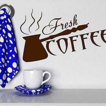 Wall Stickers Fresh Coffee Shop Time Cezve Kitchen Art Vinyl Decal Unique Gift (ig2019)