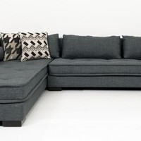 www.roomservicestore.com - Milano Sectional in Charcoal Linen