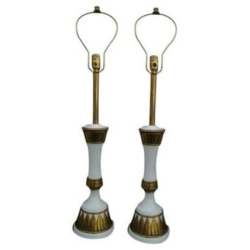 Pre-owned 1960s Modern Stiffel Table Lamps - A Pair