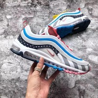 shosouvenir : Parra x Nike Air Max 97 Color matching, retro air cushion, jogging shoes