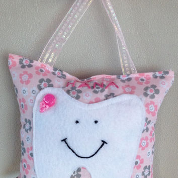 Super Cute Kids Tooth Fairy Pillow w/ Child's Name Stitched On