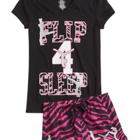 ZEBRA GYMNAST PAJAMA SET | GIRLS PAJAMAS SLEEP & UNDIES | SHOP JUSTICE
