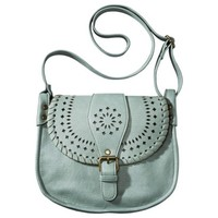 Mossimo Supply Co. Perforated Crossbody Handbag - Mint