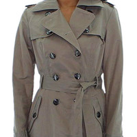 Jessica Simpson Womens Double Breasted Trench Rain Coat