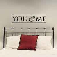 You & Me Vinyl Wall Art Decal