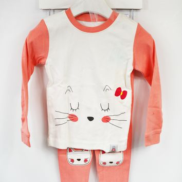 lil' belle toddler cat and me pj set