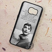 Audrey Hepburn Beauty Inspirational Quotes - Samsung Galaxy S8 S7 S6 Note 8 Cases & Covers