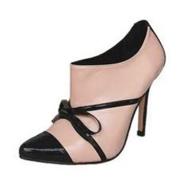 Manolo Blahnik Bow Ankle Boots Pink - $235.00
