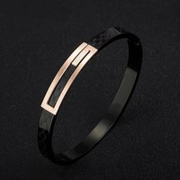 GUCCI Fashion New Women Men Personality Simple Couple Bracelet Jewelry Black I