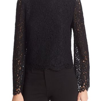 Alice + Olivia Pasha Lace Bell Sleeve Top | Nordstrom