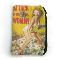 Attack of the 50 Foot Woman - Vintage Horror - Zipper Pouch