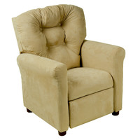 Michael Anthony Furniture Juvenile Recliner Traditional Brown Microfiber