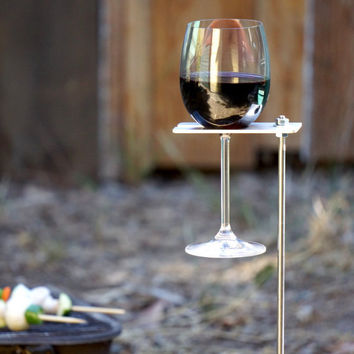 Boho Wine Glass Holder/ Garden Wine Holder