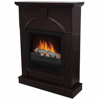 "Electric Fireplace with 26"" Mantle, Dark Chocolate - Walmart.com"