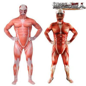 Cool Attack on Titan Hot Movie  Cosplay Costume Bodysuit Jumpsuit Tight Suit For Kids Adults Muscle Costume AT_90_11